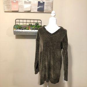 Forever 21 Olive Green Chenille Sweater Dress